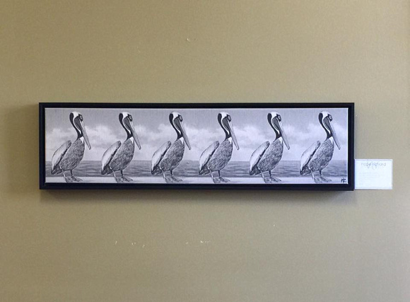 Louisiana Pelicans Canvas w/frame 10x40 $325
