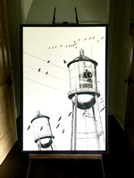 Covington Water Tower 24x36 w/frame $425